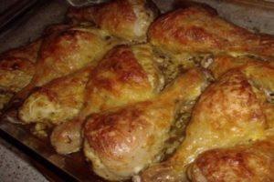 Как можно приготовить куриные ножки с сыром в духовке