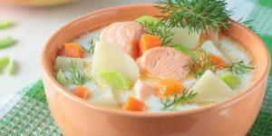Как сделать уху по-фински с плавленым сыром дома