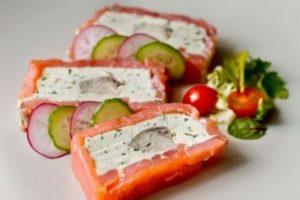Как сделать террин из лосося с творожным сыром дома